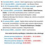 Dodatkowe dni wolne odzajęć dydaktyczno-wychowawczych wroku szkolnym 2019/2020
